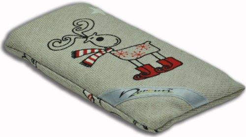 Norrun Handytasche / Handyhülle # Modell Elwin # ersetzt die Handy-Tasche von Hersteller / Modell NEC n22i # maßgeschneidert # mit einseitig eingenähtem Strahlenschutz gegen Elektro-Smog # Mikrofasereinlage # Made in Germany