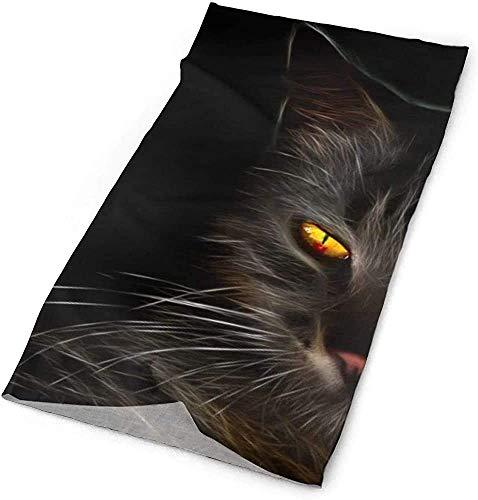 Keyboard coverGold Eye Black Cats Headwrap Unisex Multifunktions-Kopfbedeckung Polyester Soft Headband Neck Scarf, Cool Headdress Fashion Magic Head Scarf