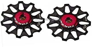 Token TK1701 BLACK Rear Derailleur Pulley SEALED BEARING/Jockey wheel 10T, 2PCS, CAMPY USE