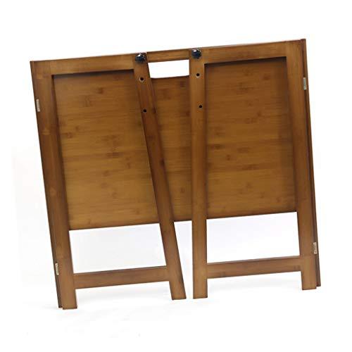 Tables de pique-nique Bureau Bureau D'ordinateur Pliant Bureau À La Maison Bambou Matériau Bureau Bureau D'écriture Assemblage Bureau (Color : Brown, Size : 104 * 51 * 80cm)