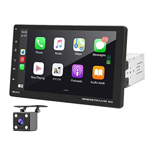 OiLiehu Autoradio Singolo Din 9 pollici Touchscreen Car Stereo FM con D-Play Bluetooth USB AUX-in Videocamera vista posteriore Supporto ingresso Specchio Link per Android IOS + telecomando