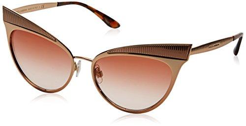 Dolce & Gabbana 0DG2178 129813 57 Occhiali da Sole, Oro (Pink Gold/Pinkgradient), Donna