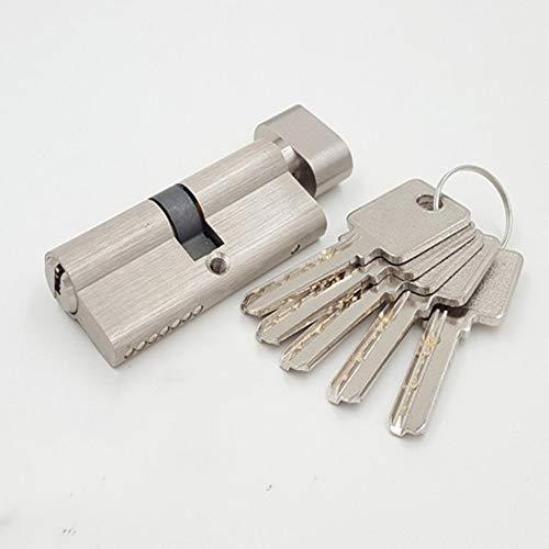 inherited Serratura a cilindro europeo ad alta sicurezza, 35/35(70 mm), Serratura per porta a cilindro europeo, con manopola fissa, 5 chiavi, anti grimaldello, anti urto, anti scatto
