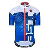 Maillot de ciclismo con manga corta para hombre (2021). Ropa de ciclismo para exteriores, bici de montaña - azul - Large