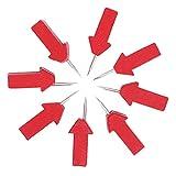 Omabeta Clavo De La Fijación De La Foto del Material De Madera del Clavo De La Chincheta para La Oficina(Medallón de chincheta de Flecha roja)