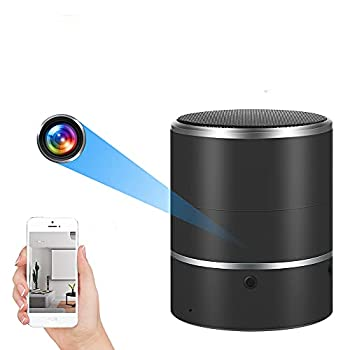 Hidden Camera Speaker 1080P HD WiFi Spy Camera Bluetooth Speakers 180°Rotate Wireless Camera Video Recorder Motion Detection Real-Time View Nanny Cam