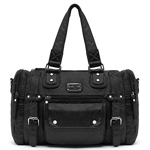 Scarleton Satchel Handbag for Women, Purses for Women, Shoulder Bags for Women, H148501 - Black