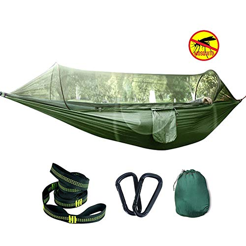 SXNYLY Hammock Mosquito Net Outdoor Camping Portable Double Single Tent Hammock Hammock Chair Light Weight Hammocks for Backpacking, Travel, Beach...