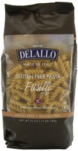 DeLallo Gluten Free Brown Rice, Fusilli, 12-Ounce (Pack of 12)