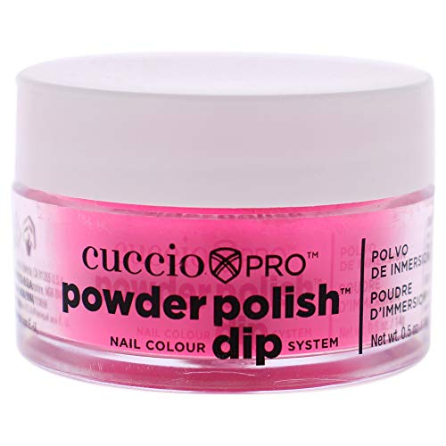 Cuccio Neon Pink Nail Color Dip System Duiken poeder
