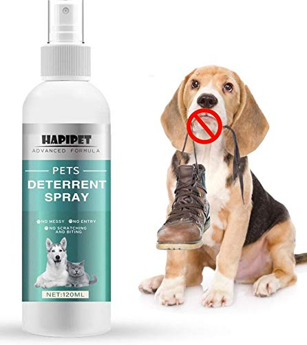 Shaboo Prints Pets Scratch Deterrent Training Spray, Cat or Dog Repellent Spray Behavioral Training Aid for Furniture, Indoor and Outdoor Use