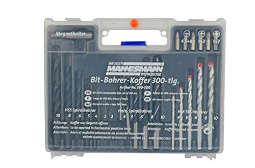Brüder Mannesmann Bohrer + Dübelsatz 300-tlg., M 590-300