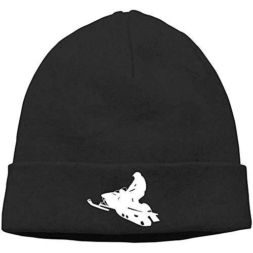 LinUpdate-Store Schneemobil Silhouetten Unisex Soft Hedging Caps Uhr Hüte schwarz