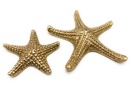 Boltze Stella Marina Oro 2 Pezzi 18 e 11 cm Alluminio Trend Style per Decorazione