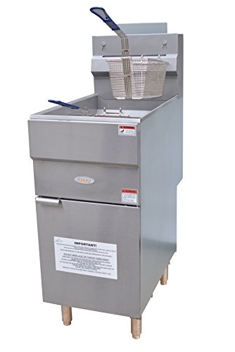 Hakka Heavy Duty 45-50 lbs Natural Gas Deep Fryers
