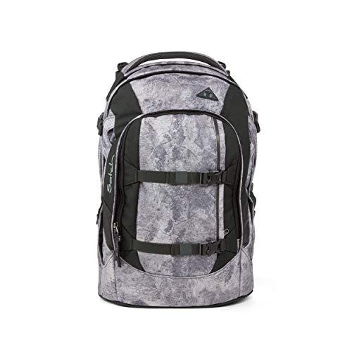 satch Pack Rock Block, ergonomischer Schulrucksack, 30 Liter, Organisationstalent, Grau