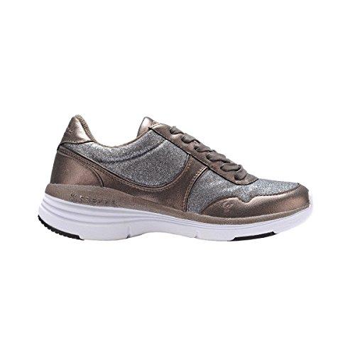 Freddy Sneaker en simili-cuir métallisée et pailletée f5wfvc1g, BRONZO/ARGENTO