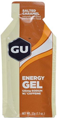 GU Energy Gel, Salted Caramel (salziges Karamell), Box mit 24 x 32 g