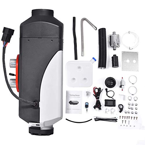 Calentador combustible, calentador estacionamiento Diersel, 12V 2000KW Silenciador LCD Remote Ctrol Calentador aire para automóvil compacto, compatible con camiones, barcos, automóviles, remolques
