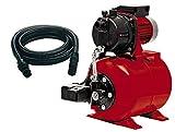 Einhell 4173193 Bomba de agua + mangera de aspiracion 7 m (600 W, 3600 l/h) rojo y negro