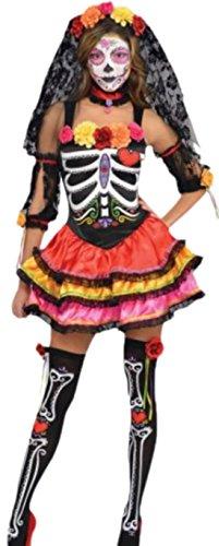 erdbeerloft–Disfraz Máscaras de México Tote de mujer, carnaval,, 34–44, multicolor