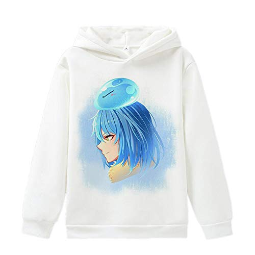 That Time I Got Reincarnated as a Slime Pullover Anime Pullover mit Print Tops Frühlings-Herbst Langarm-Sweatshirt Unisex (Color : White18, Size : Height-185cm(Tag XXL))