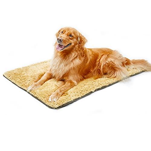 Enetos Cama Perro Grande Colchoneta Almohada Relajante Perro, reversible suave, lavable, colchón de viaje, almohadillas de felpa para perrera, adecuadas para exteriores, interiores, coches, jardines