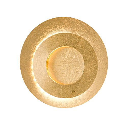 WOFI Wandleuchte, Metall, Integriert, 8.5 W, Goldfarbig, 24 x 24 x 100 cm