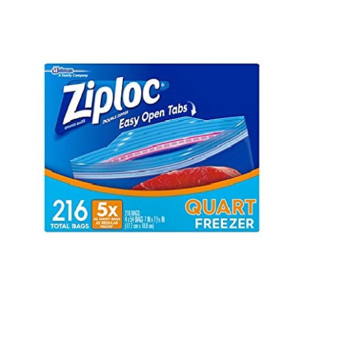 freezer quart ziploc - 6