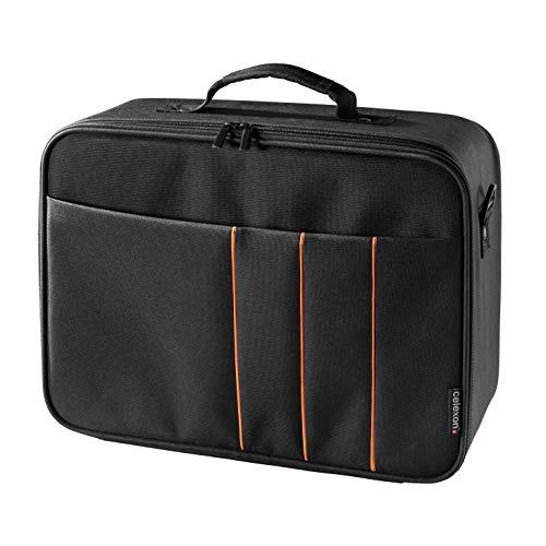 celexon Beamertasche Economy - 41x29x15 cm - Hartschalenrahmen - wasserabweisend & abwaschbar - 100% Polyester - schwarz