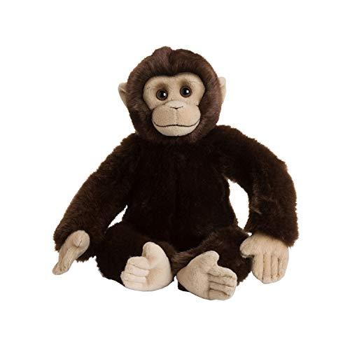 WWF 15191052 WWF00352 Plüsch Schimpanse, realistisch gestaltetes Plüschtier, ca. 30 cm groß und wunderbar weich