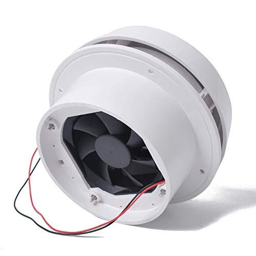 Paletur0 Escape Ventilador, 12V Techo Ventila Ventilación Techo Escape Ventilador para Rv Caravana, Techo Montado Redondo Ventila 60CFM