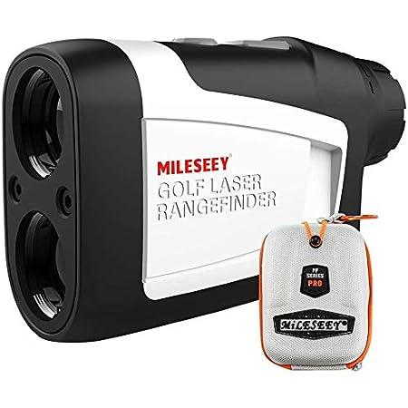 MiLESEEY Telemetro Golf con Pendiente de Encendido / Apagado, Telémetro Golf 600m con Bloqueo de Bandera y Vibración, Precisión de ± 0,55 yardas, Torneo Legal, Estuche de Transporte, Batería Gratis