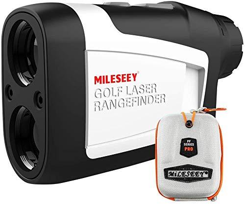 MiLESEEY Telemetro Golf con Pendiente de Encendido   Apagado, Telémetro Golf 600m con Bloqueo de Bandera y Vibración, Precisión de ± 0,55 yardas, Torneo Legal, Estuche de Transporte, Batería Gratis