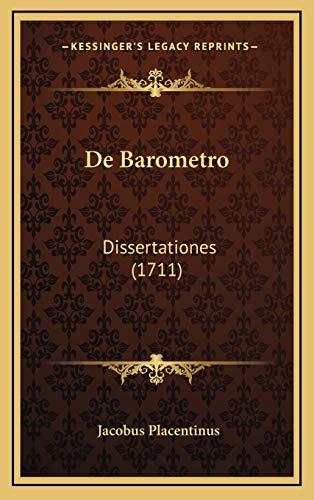 de Barometro: Dissertationes (1711)