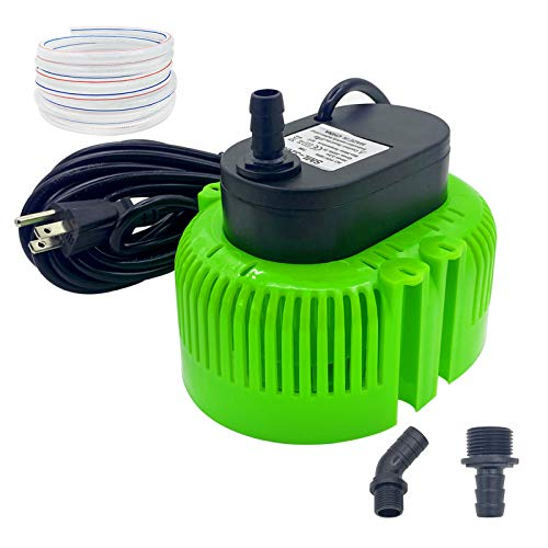 AgiiMan Pool Cover Pump Above Ground - Submersible Water Sump Inground Pump, Swimming Removal with 16' Drainage Hose and 25 Feet Power Cord, 850 GPH, 3 Adapters