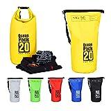 Relaxdays Zaino Impermeabile Ocean Pack 20L Borsa Ultraleggera Sacca Dry Bag da Kajak Raft...