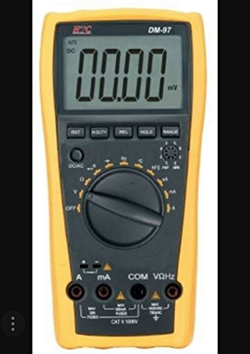 HTC Instrument DM-97 3 3/4 Digital Multimeter 4000 Counts, Capacitance, Frequency, Temperature