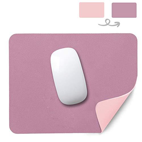 AndThere Tappetino per Il Mouse Antiscivolo Mouse Pad Impermeabile in Pelle pu Mousepad Superficie Liscia Double Sided Portatile Mouse Pad Gaming per Gioco Laptop PC Ufficio Computer 26x21x0,2cm