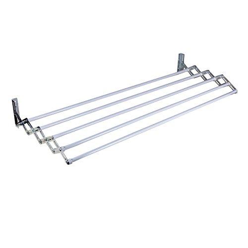 Rayen 0035 - Tendedero de pared con 5 cuerdas, color blanco