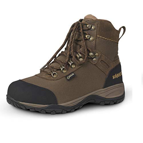 Härkila wasserdichter Trekkingschuh für Herren Grove GTX Braun mit Gore-Tex®-Membran - Leichter Trekkingstiefel Mid für Männer mit Verstärkungen, Größe:46