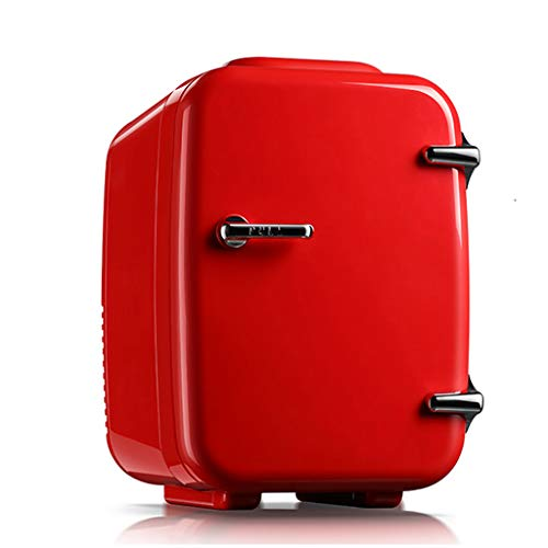 Refrigerador portatil Lxn Mini Nevera 4L Mute Reefer Cooler Box and Warmer - Uso del automóvil - 6 latas de 330ml (Rojo)