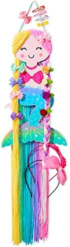 Beinou Hair Bow Holder Organizer for Girls Mermaid Headband Holder Colorful Yarn Tassels Hair product image