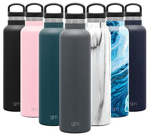 Simple Modern Ascent 710mL Botella de Agua de Acero Inoxidable con Tapa de Asa, Botella Termica con Boca Estrecha, Aislada al Vacío, Doble Pared, Termo sin BPA para Deporte o Viaje, Prueba de Fugas