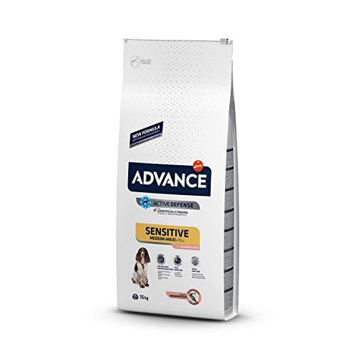 Advance Sensitive Medium-Maxi - Pienso para Perros de Razas Medianas y Grandes con Sensibilidades Digestivas con Salmón y Arroz -15Kg