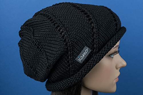 Beanie ROM II schwarz Mütze von siamo-handmade Baumwolle