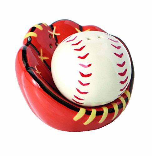 Baseball Fanghandschuh Keramik Salz- und Pfefferstreuer