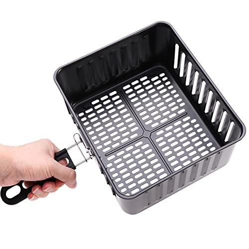 SDFLKAE Cesta de freír, freidora gastronómica, cesta para freír, para cocinar, desagüe antiadherente para aceite, accesorios para freidoras (1 pieza)