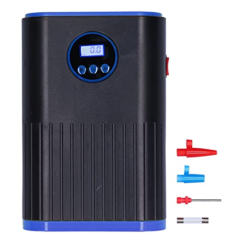 Inflador de neumáticos para automóvil digital, bomba de compresor de aire portátil de 12 V CC y 120 W para neumáticos de automóvil, con luz intermitente LED de emergencia, cable de 60 cm de largo para