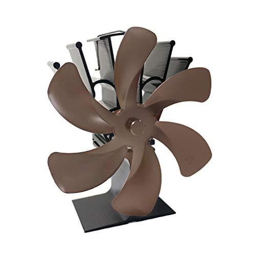 Yasu7 - Ventilador de estufa con 6 aspas para madera, estufa de leña, chimenea, ahorro de combustible, Ecofan Efficient